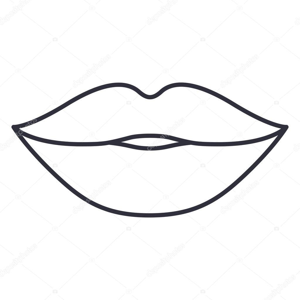 Lábios E Projeto Dos Desenhos Animados De Boca — Vetores De Stock
