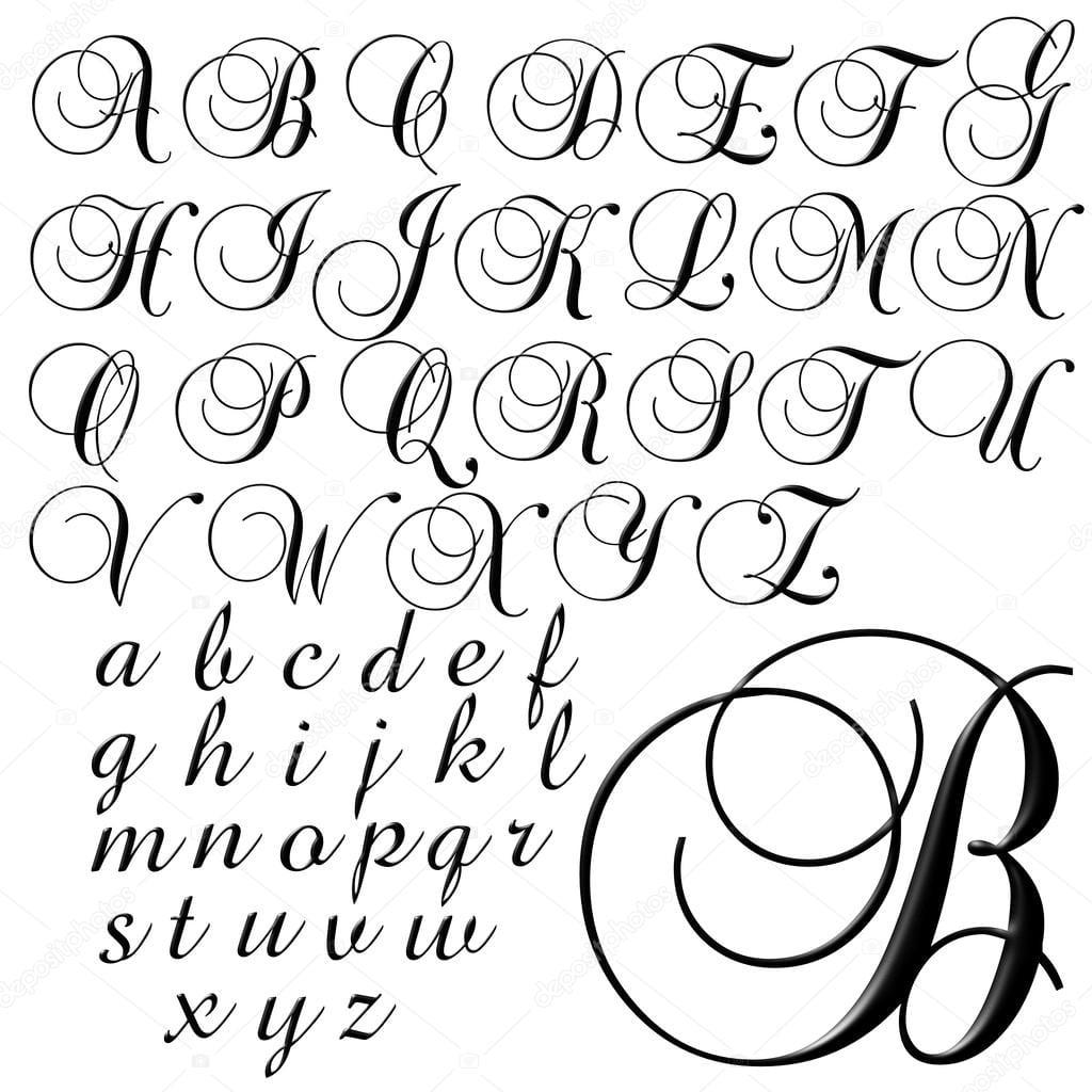 Desenho De Letras De Alfabeto Abc — Stock Photo © Jrtburr  51294449