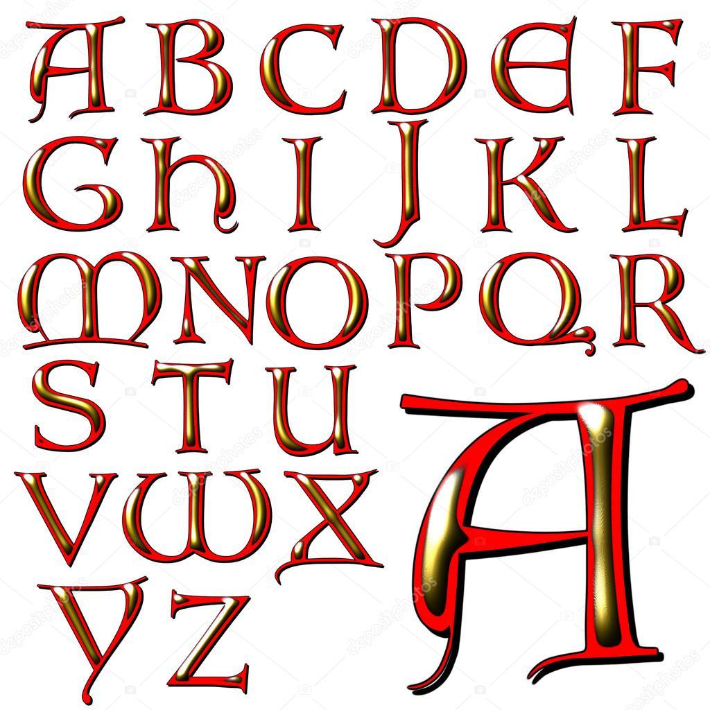 Desenho De Letras De Alfabeto Abc — Fotografias De Stock © Jrtburr