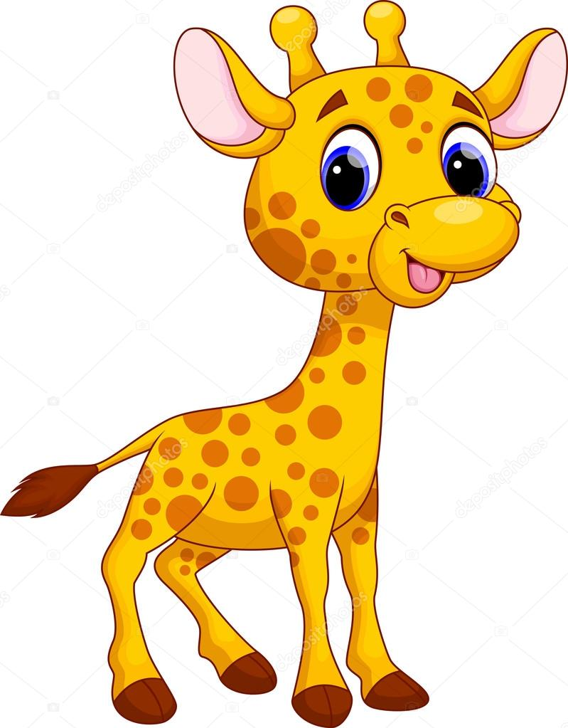 Girafa Bonita Dos Desenhos Animados — Vetores De Stock © Irwanjos2