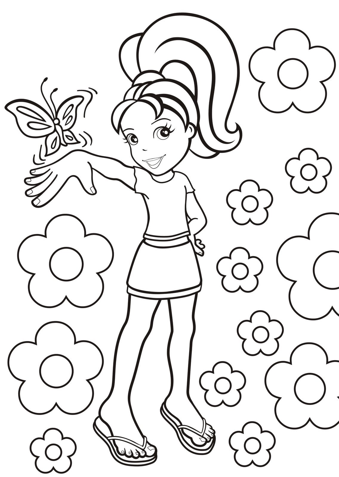 Desenho Da Polly Para Pintar
