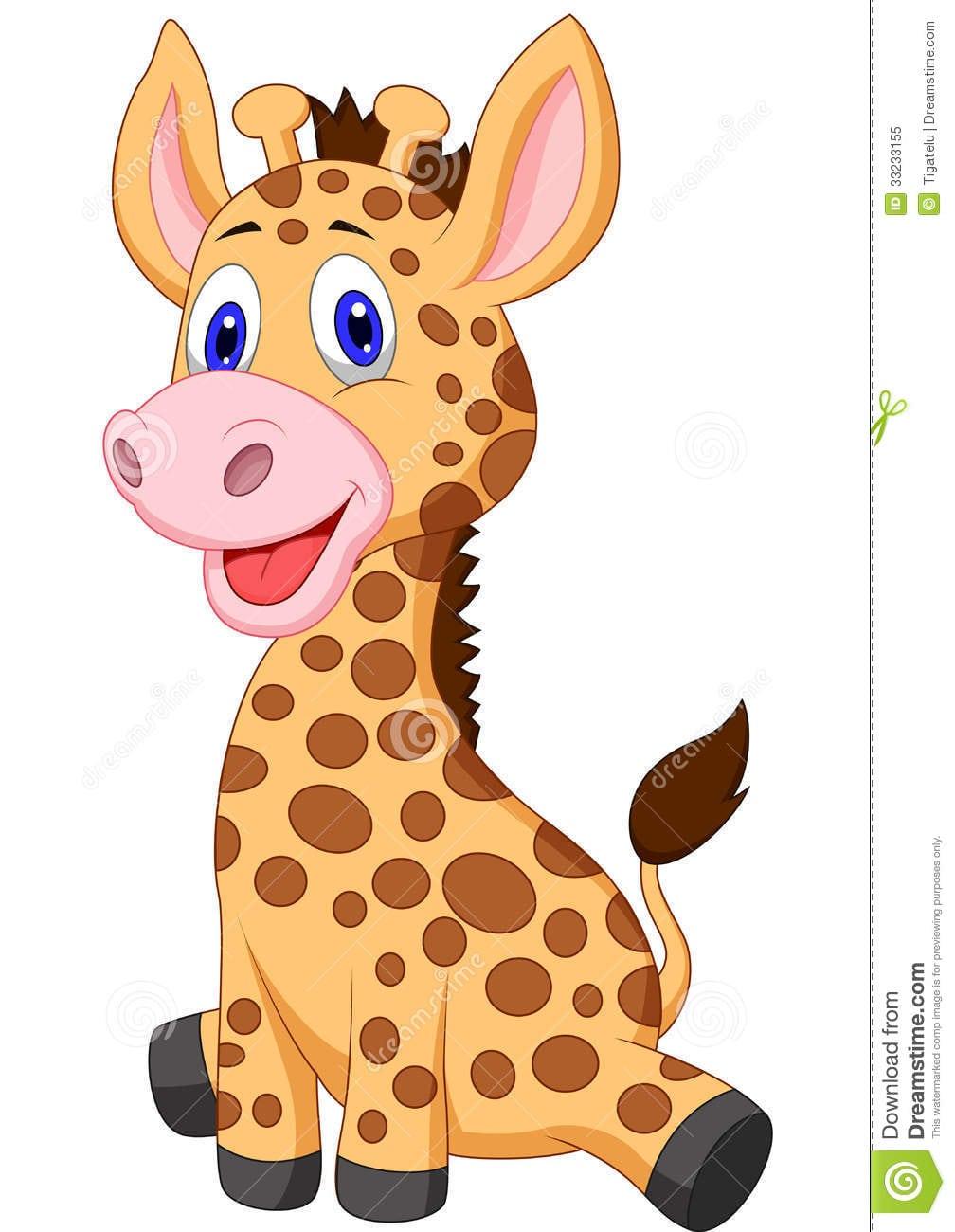 Desenhos Animados Bonitos Do Girafa Do Bebê Ilustração Do Vetor