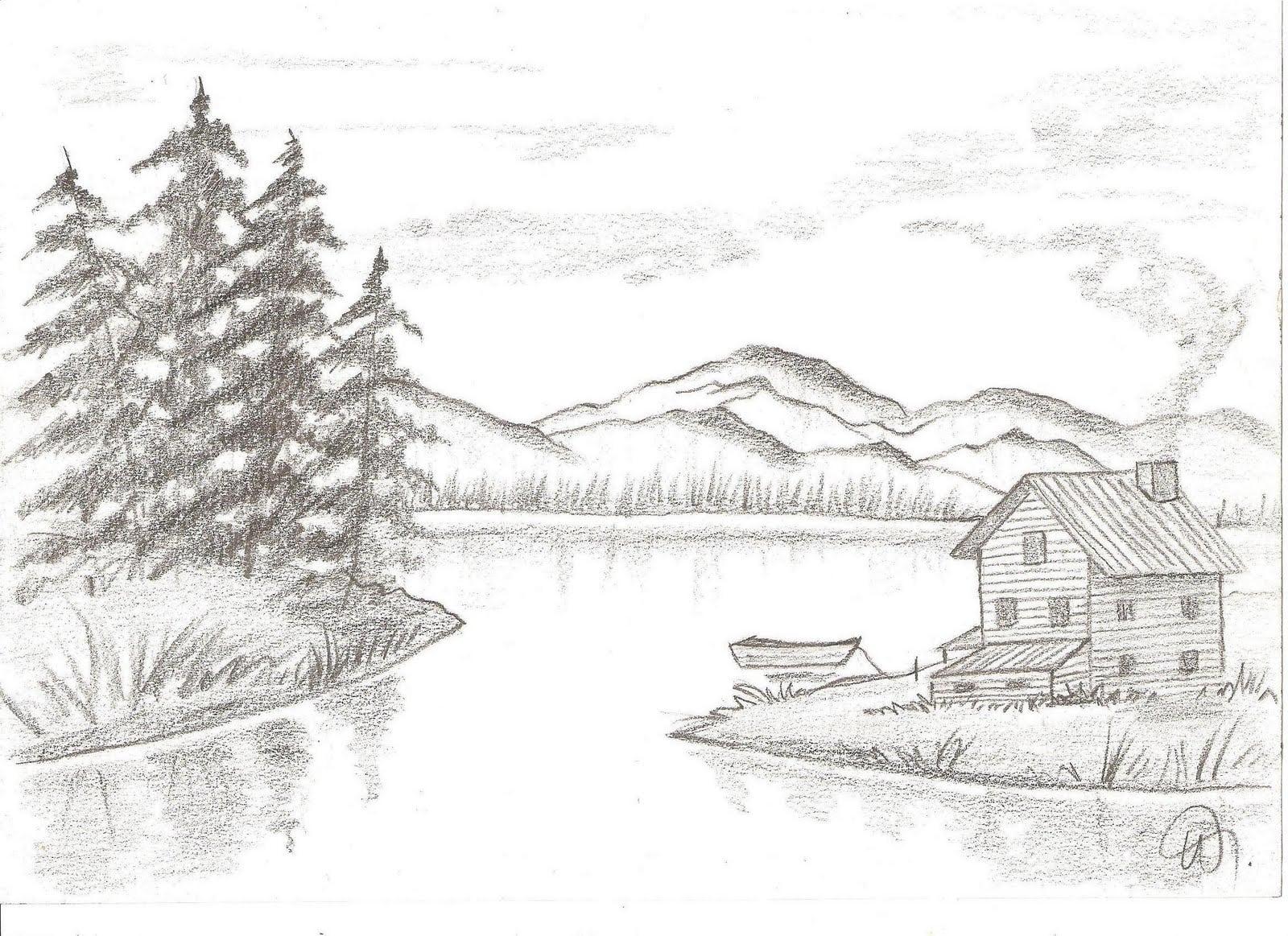 Desenho De Paisagens Naturais