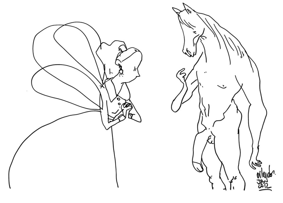 Desenho Para Colorir Cavalos
