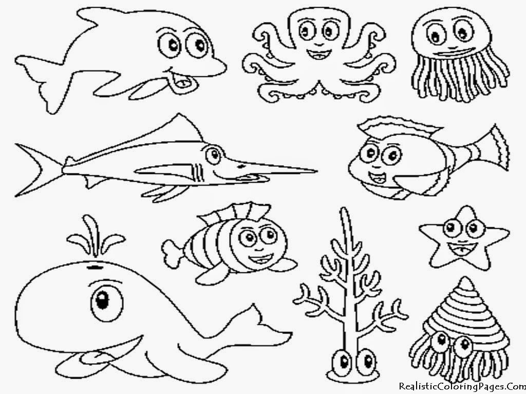 Desenhos De Animais Marinhos Para Colorir