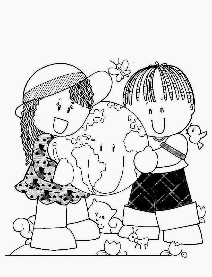 Desenhos Do Dia Das CrianÇas Para Imprimir E Colorir, Pintar — SÓ