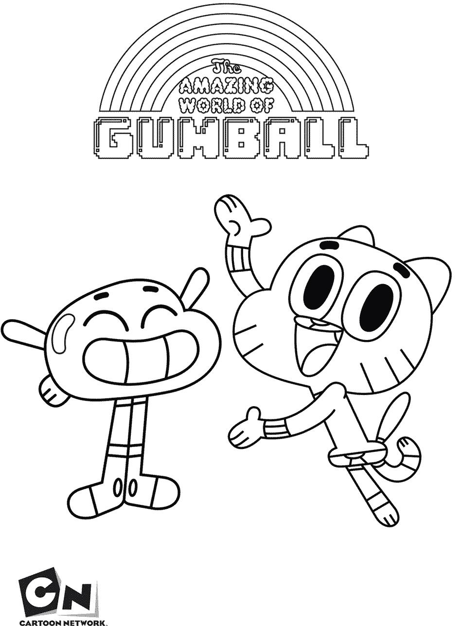 Desenhos Do Gumball Para Pintar — Colorir Org