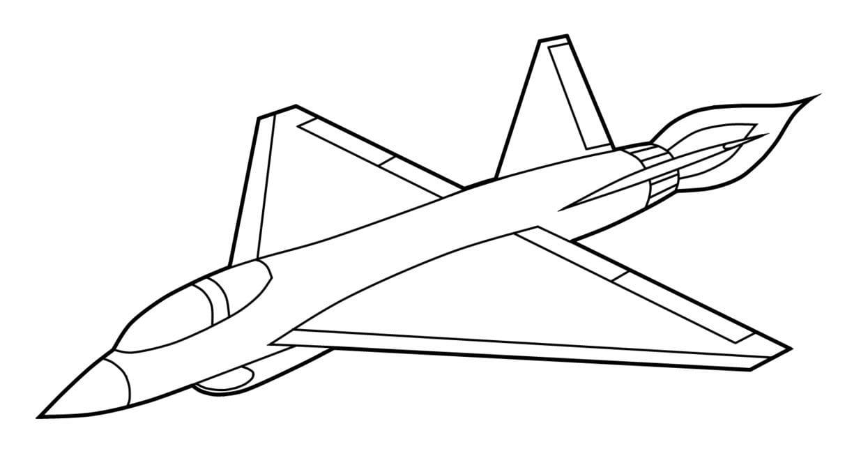 Aviões Para Colorir