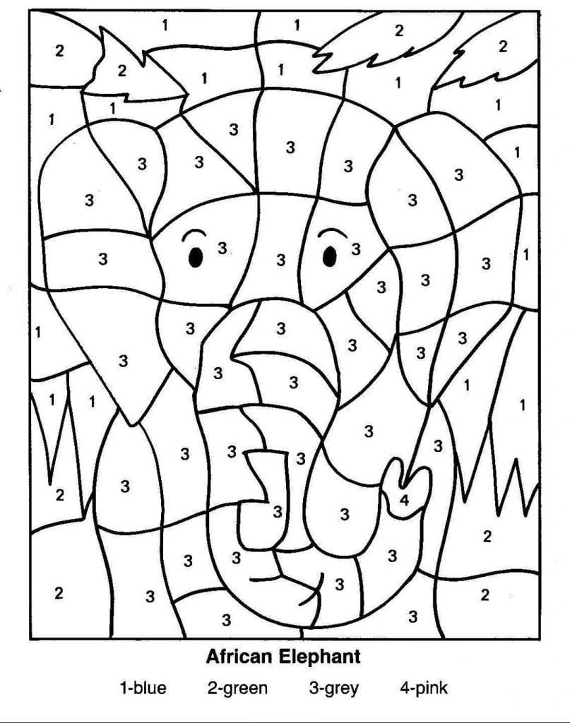 Desenhos Para Colorir Com Números
