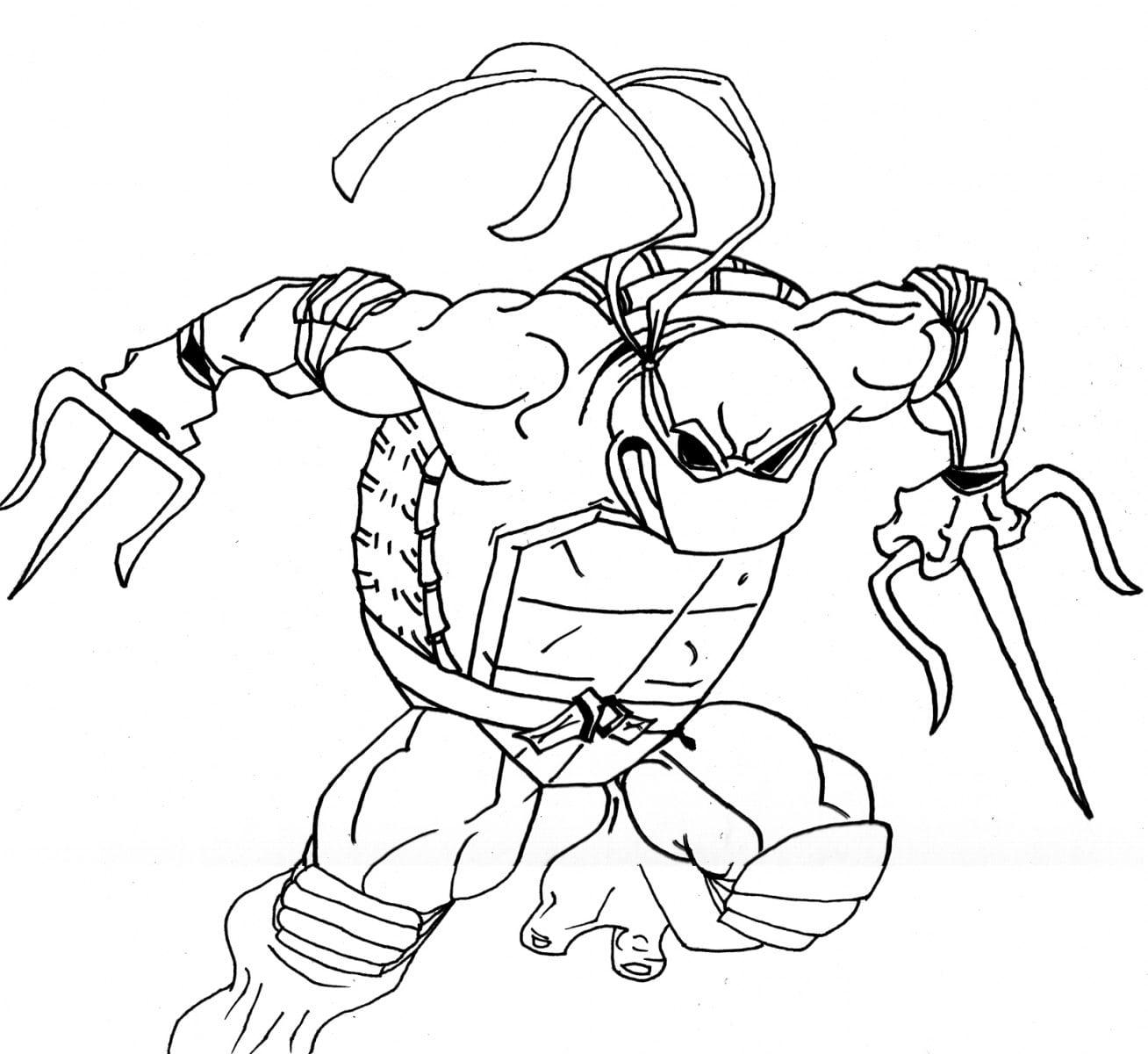 Desenhos Para Colorir Das Tartarugas Ninja  Desenhoswiki Com