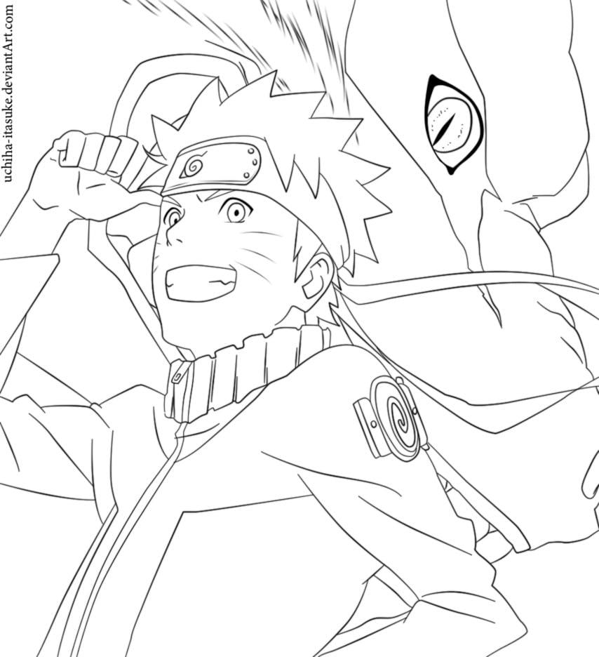 Desenho Para Imprimir Do Naruto