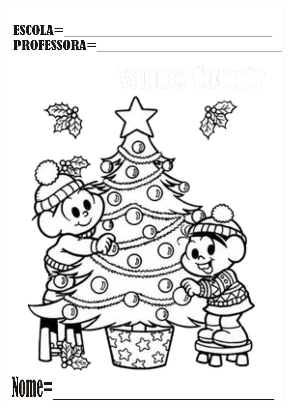 Feliz Natal Para Colorir