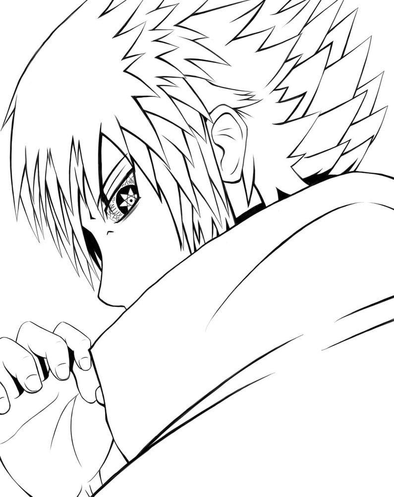 Desenhos Para Colorir Sasuke – Pampekids Net