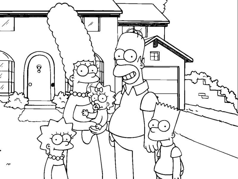 Desenhos Para Colorir Homer Simpson