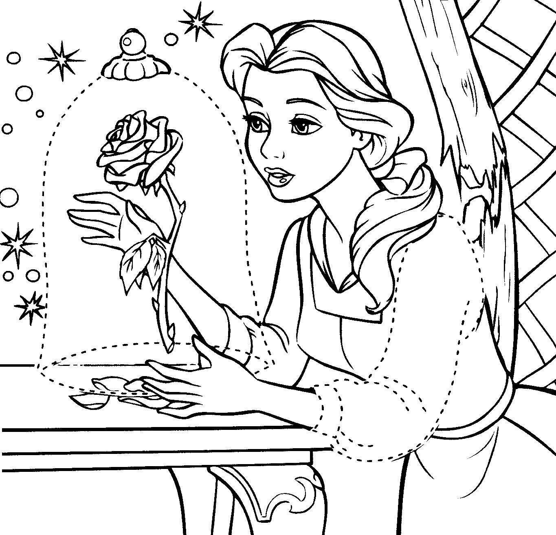 Desenhos Para Imprimir Da Bela Ea Fera