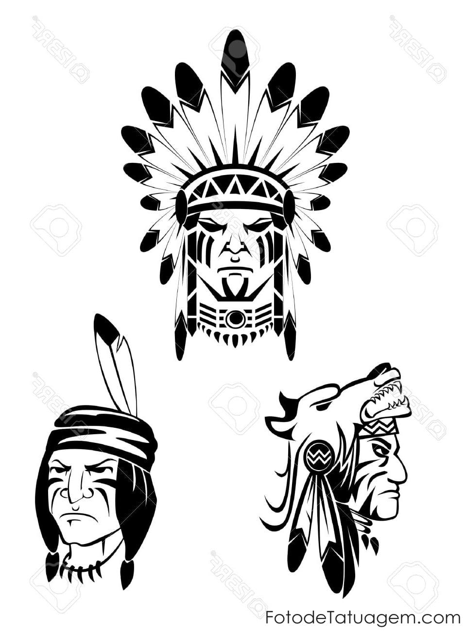 Desenhos Para Tatuagem De Indio