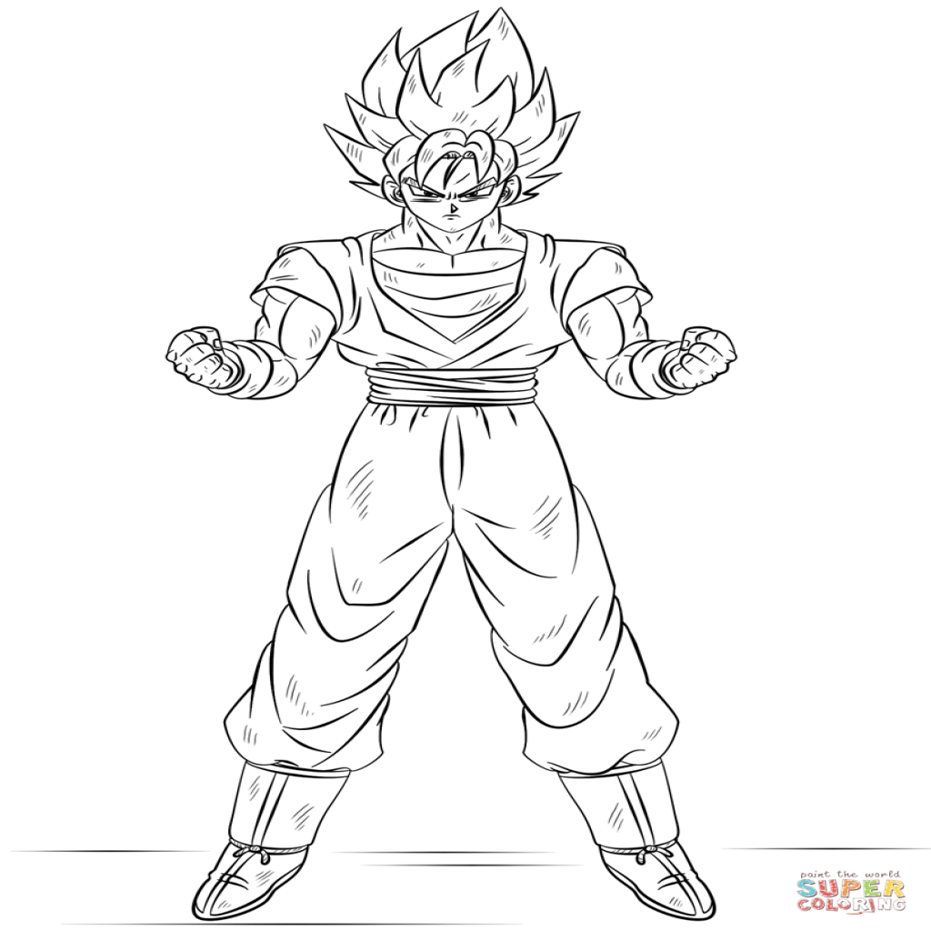 Dibujo De Goku Super Saiyan Para Colorear Dibujos Para Colorear