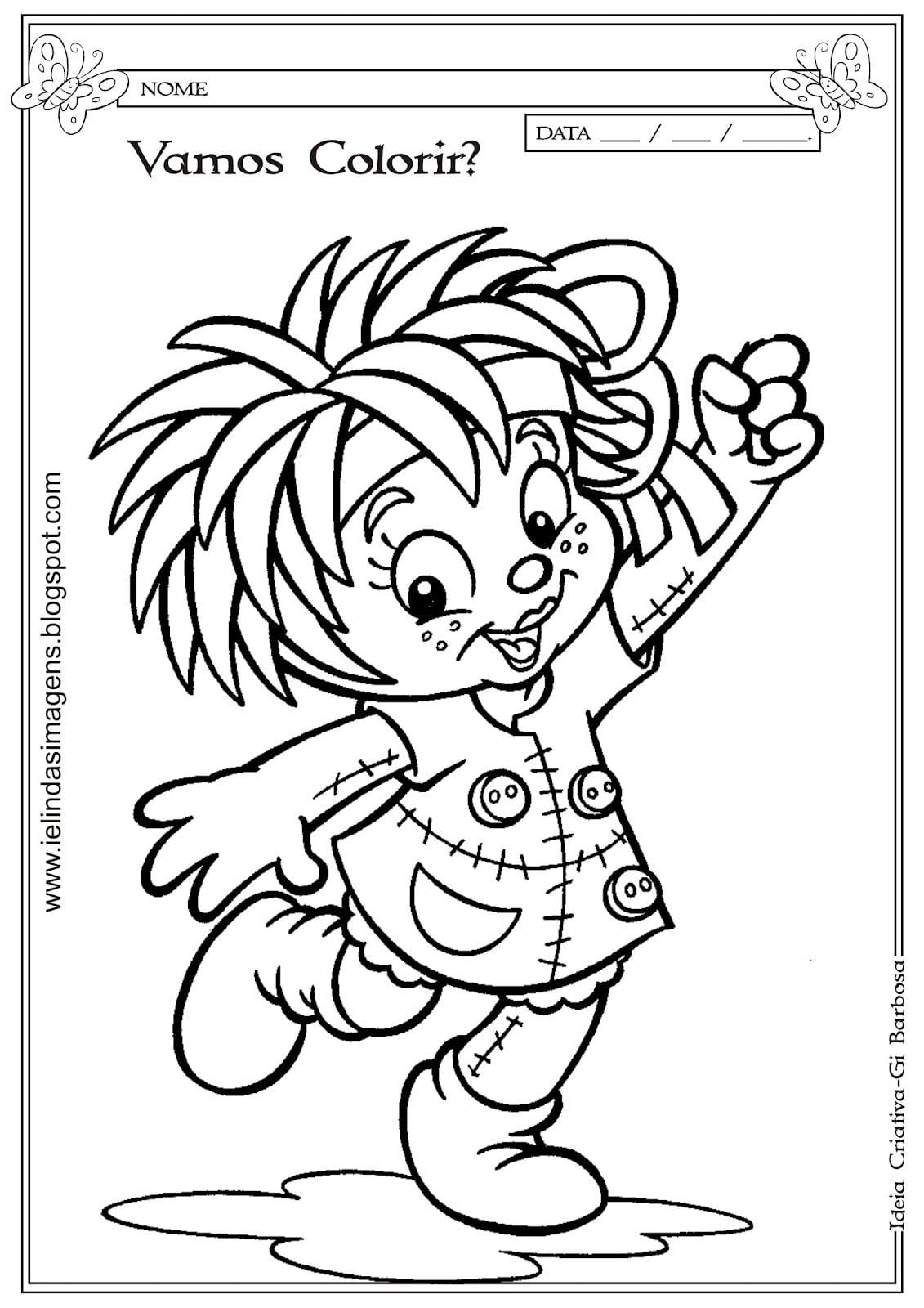Desenho Da Emilia Para Colorir – Pampekids Net