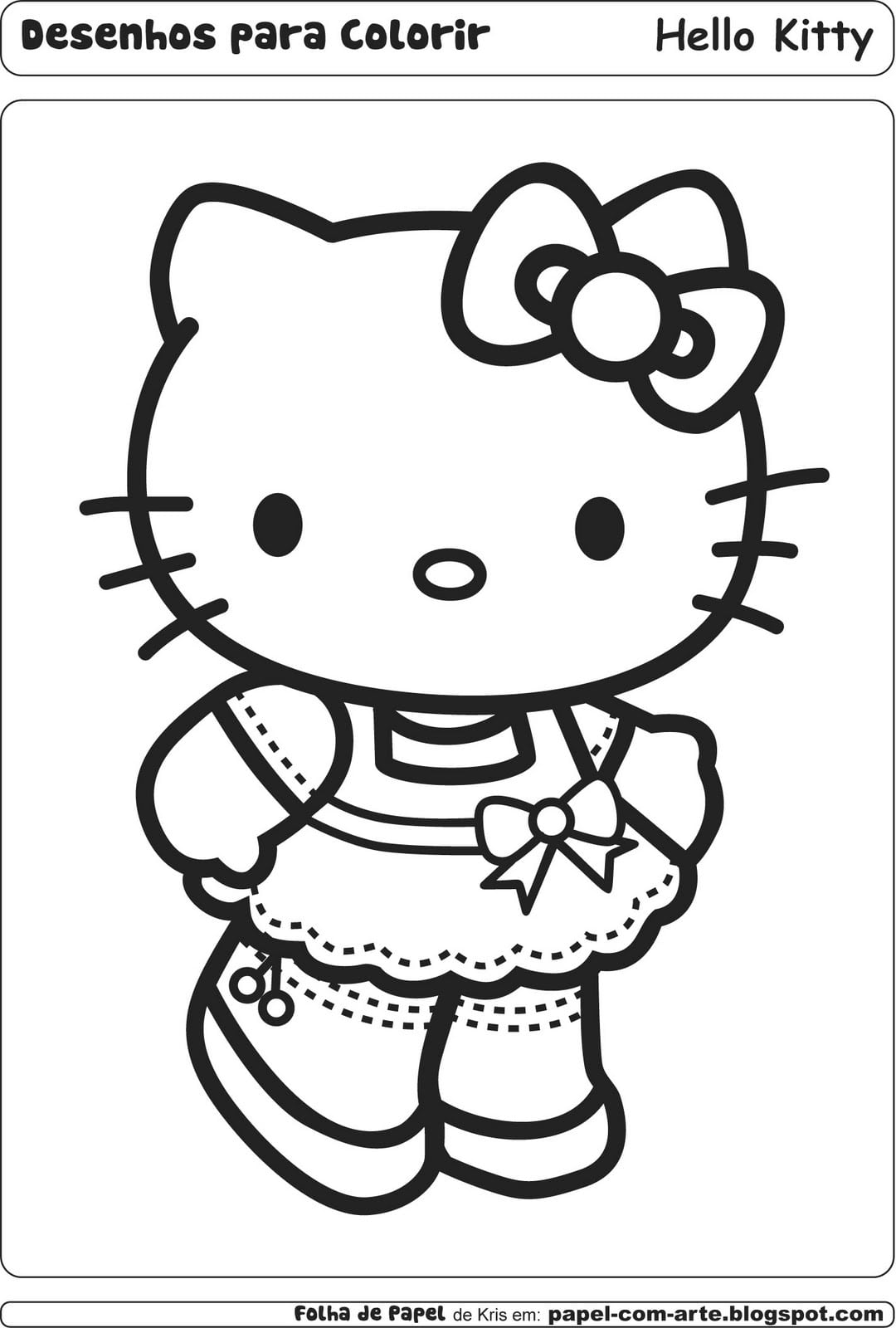 Desenhos Hello Kitty Para Colorir Grátis