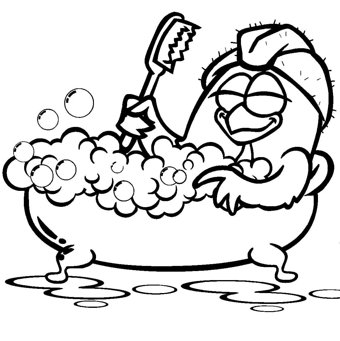 Desenho De Galinha Pintadinha Tomando Banho Para Colorir