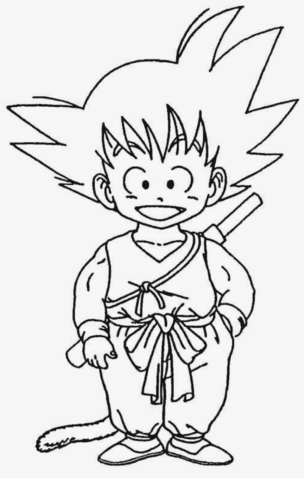 Goku Para Pintar