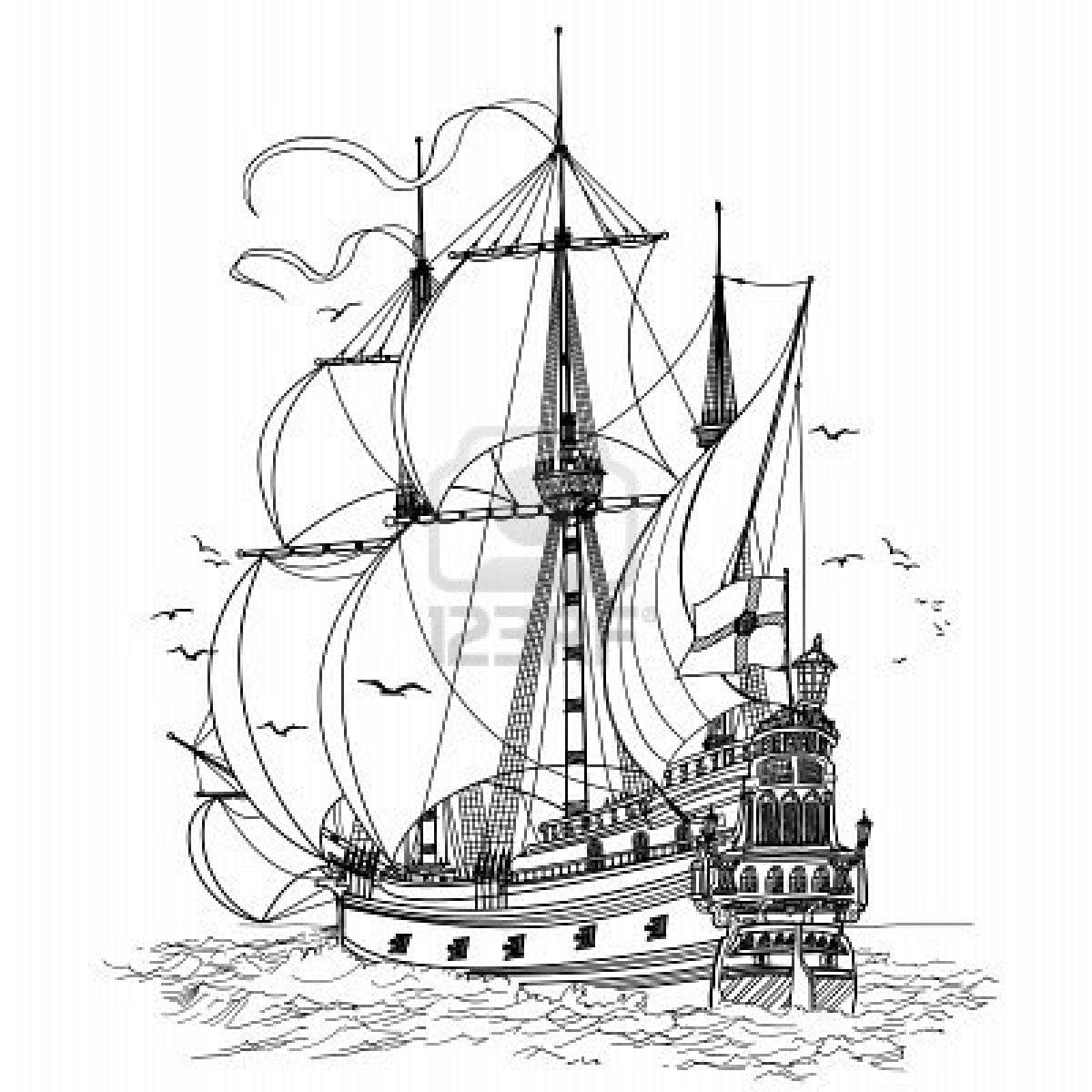 Imagenes De Barcos Para Pintar Inicial Mejor Conjunto De Frases