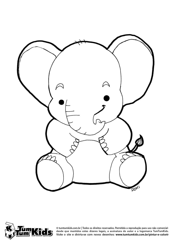 Figura De Elefante Para Colorir