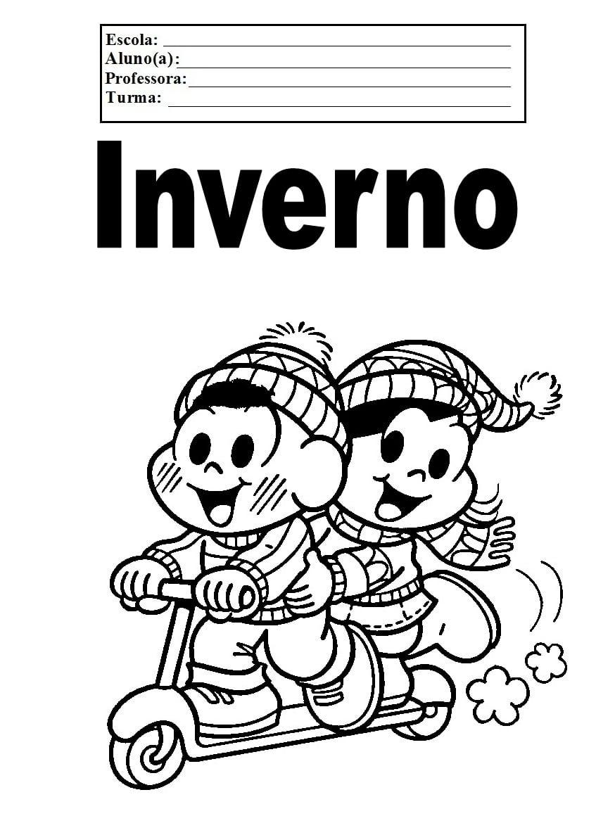 Referências Para Educação Infantil  Desenhos Para Colorir   Inverno