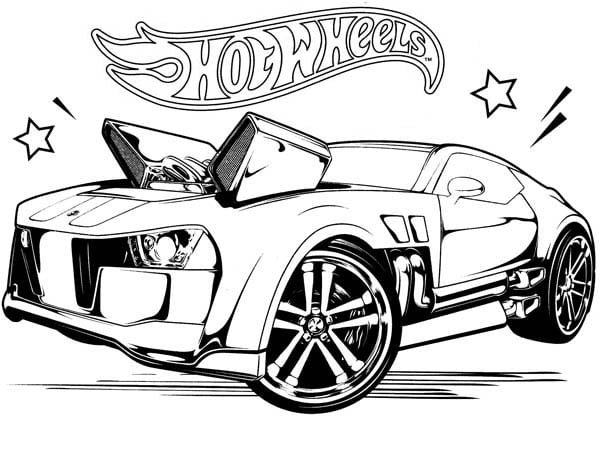 Cozy Design Hot Wheels Coloring Page Hotwheel Free Pages