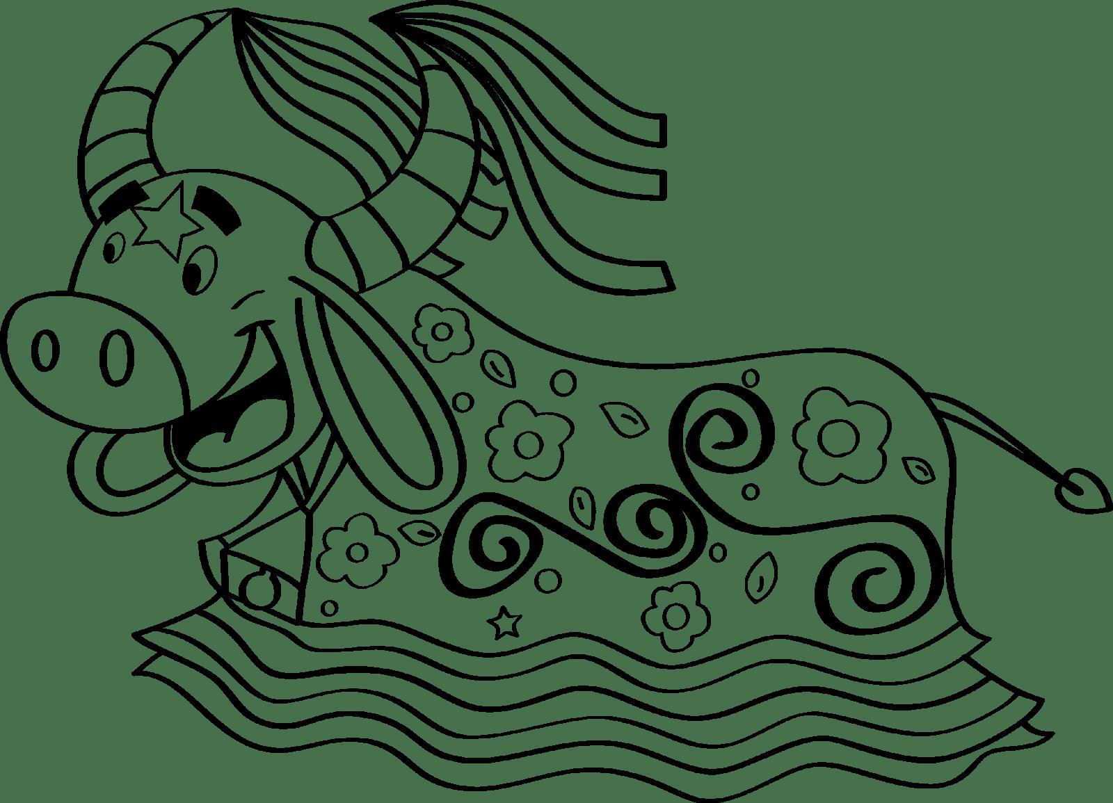 Desenho Para Colorir Bumba Meu Boi