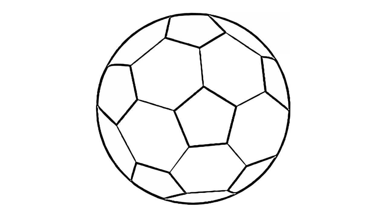 Como Desenhar Uma Bola De Futebol (fácil)