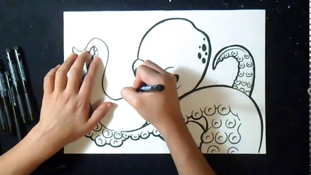 Como Desenhar Polvo Grafite