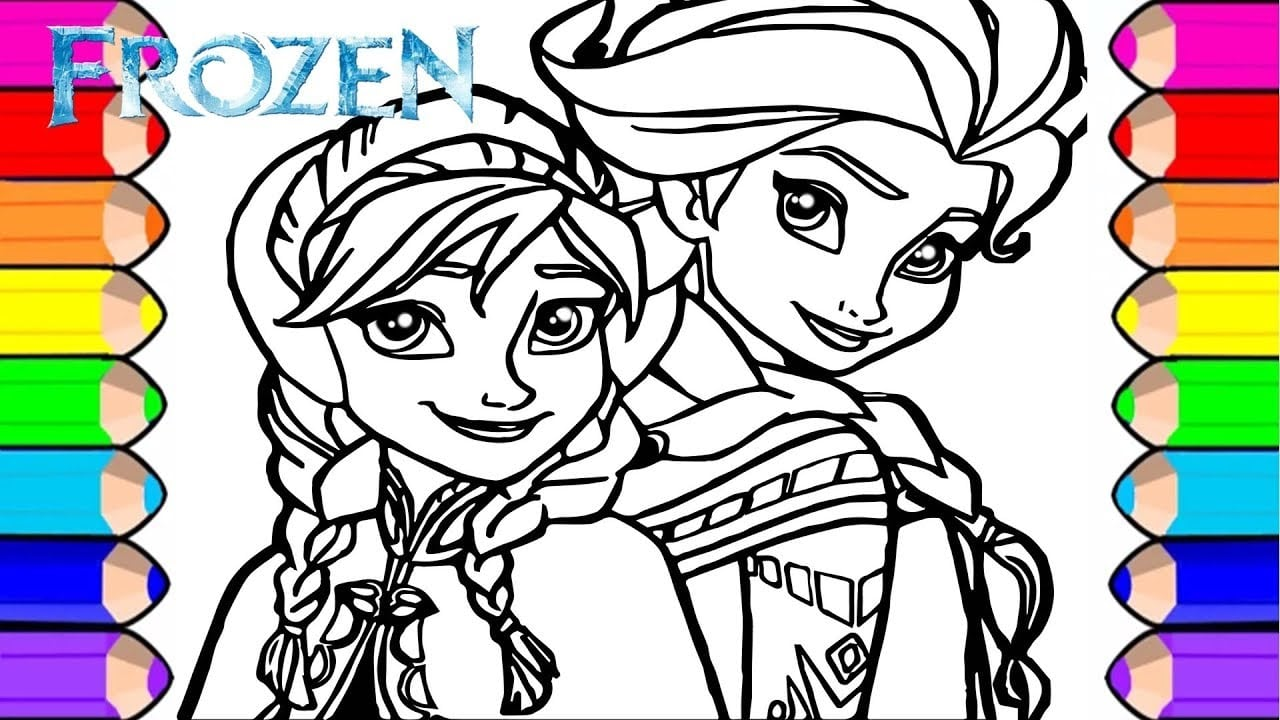 Frozen Desenho Para Pintar E Colorir Das Princesas Disney Elsa E