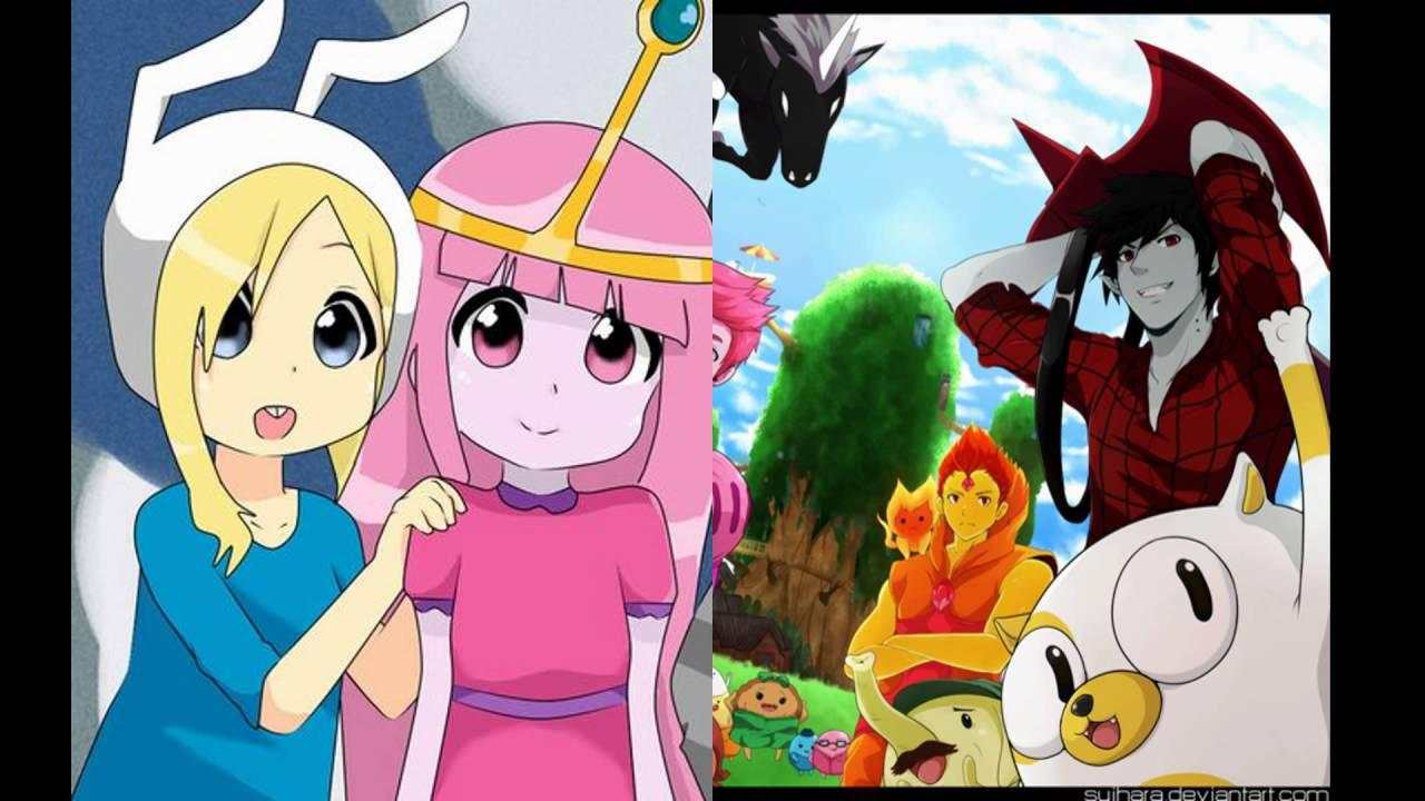O Incrível Mundo De Gumball E Hora De Aventura Anime