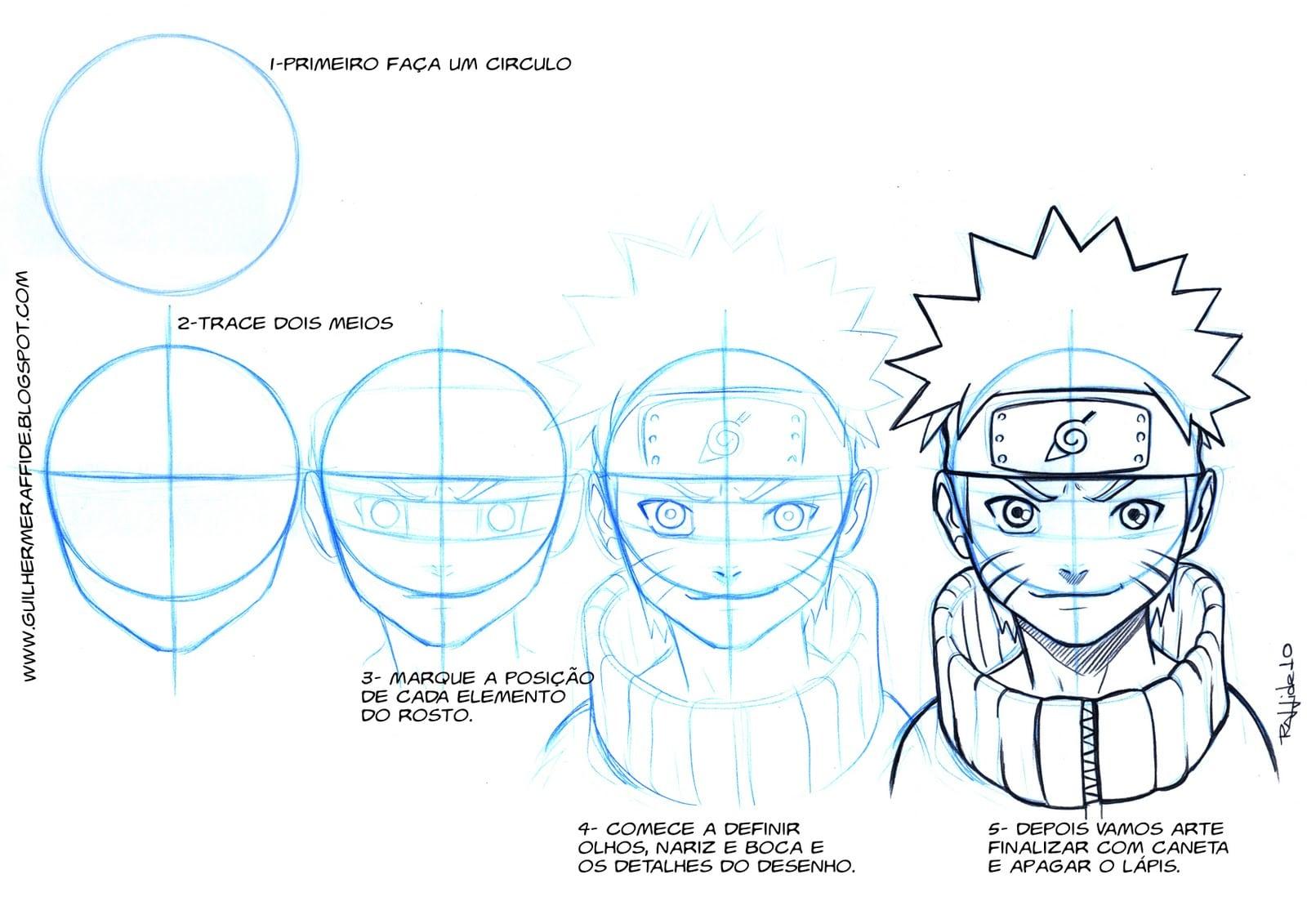 Guilherme Raffide  Como Desenhar O Naruto
