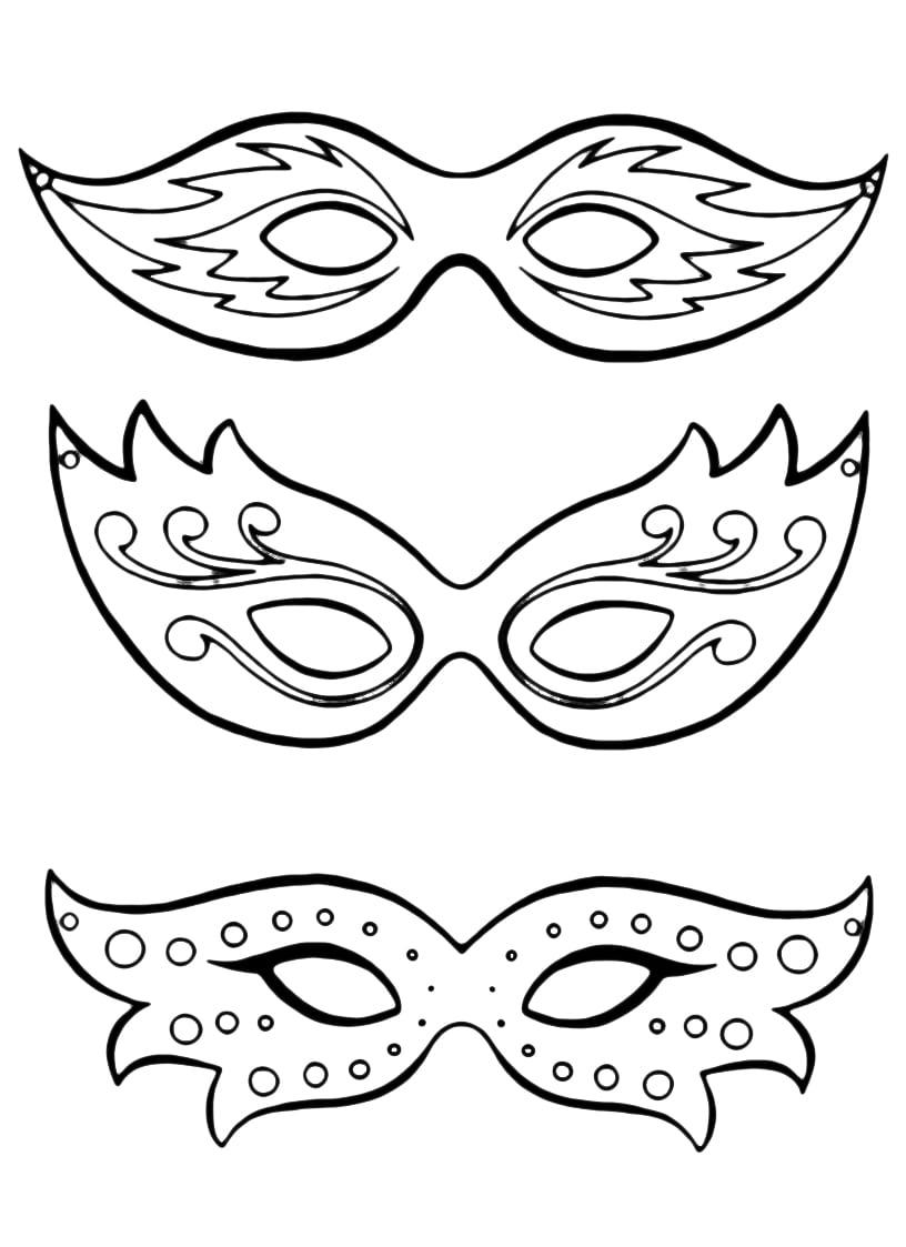 Desenho De Óculos De Carnaval Para Colorir