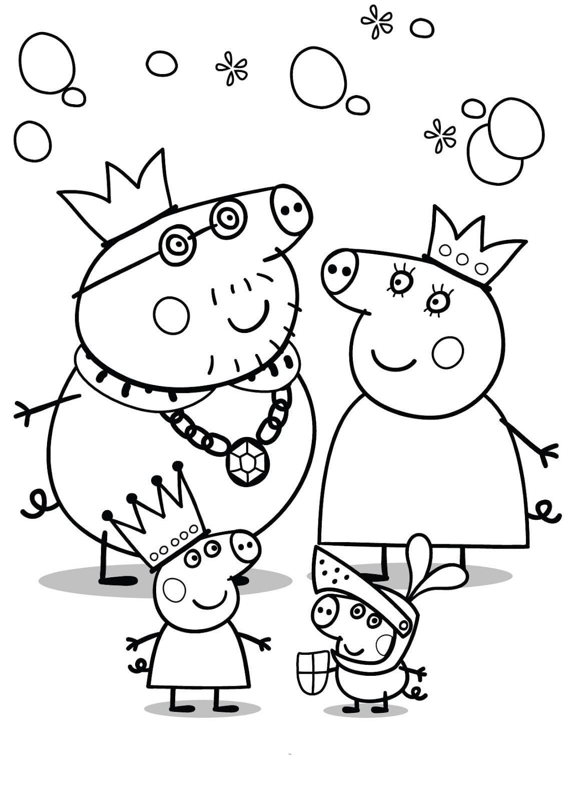 Peppa Pig Para Colorir E Imprimir