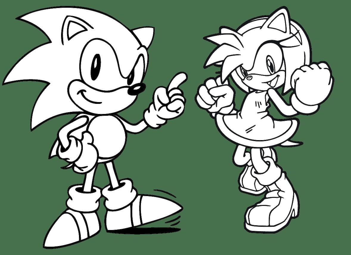 Jogo Pinte Sonic E Amy No Jogos 360