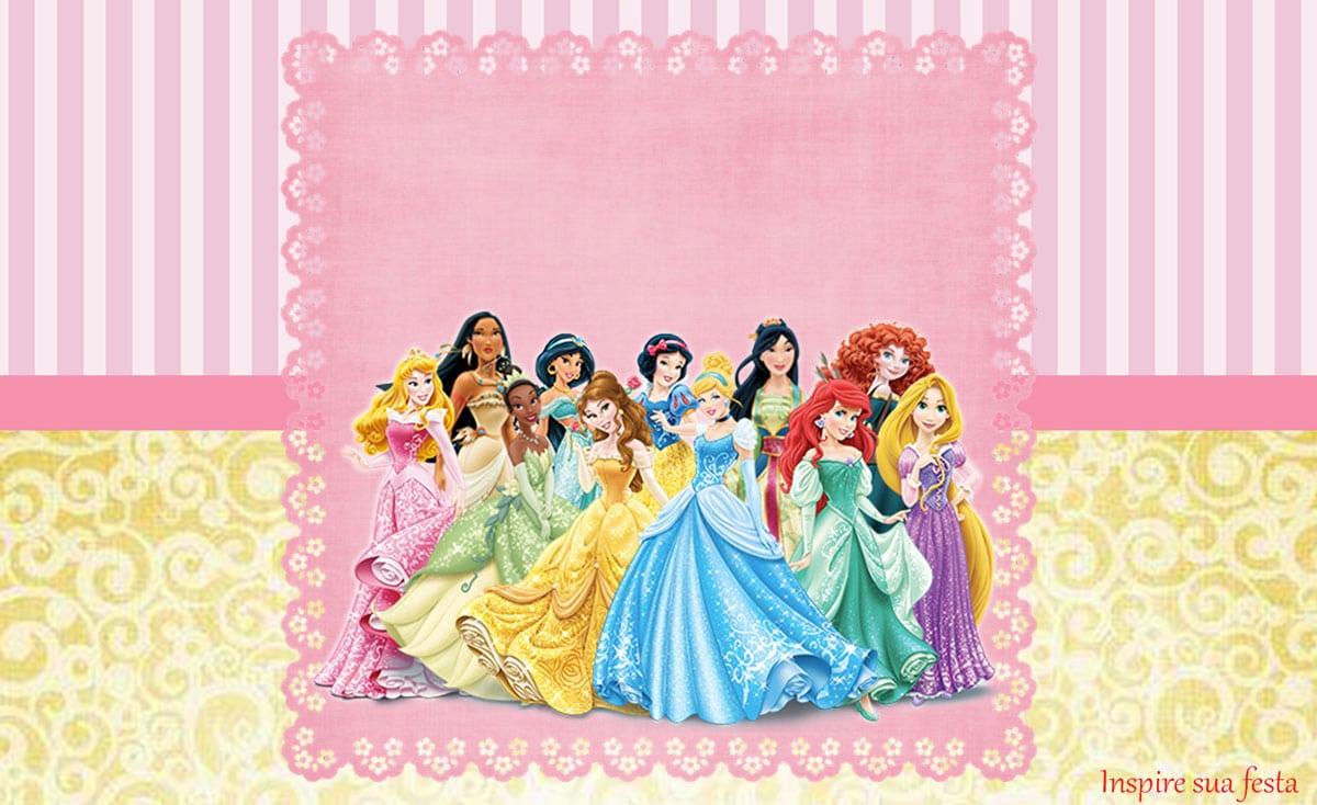 Princesas Disney Kit Festa Infantil Grátis Para Imprimir – Inspire