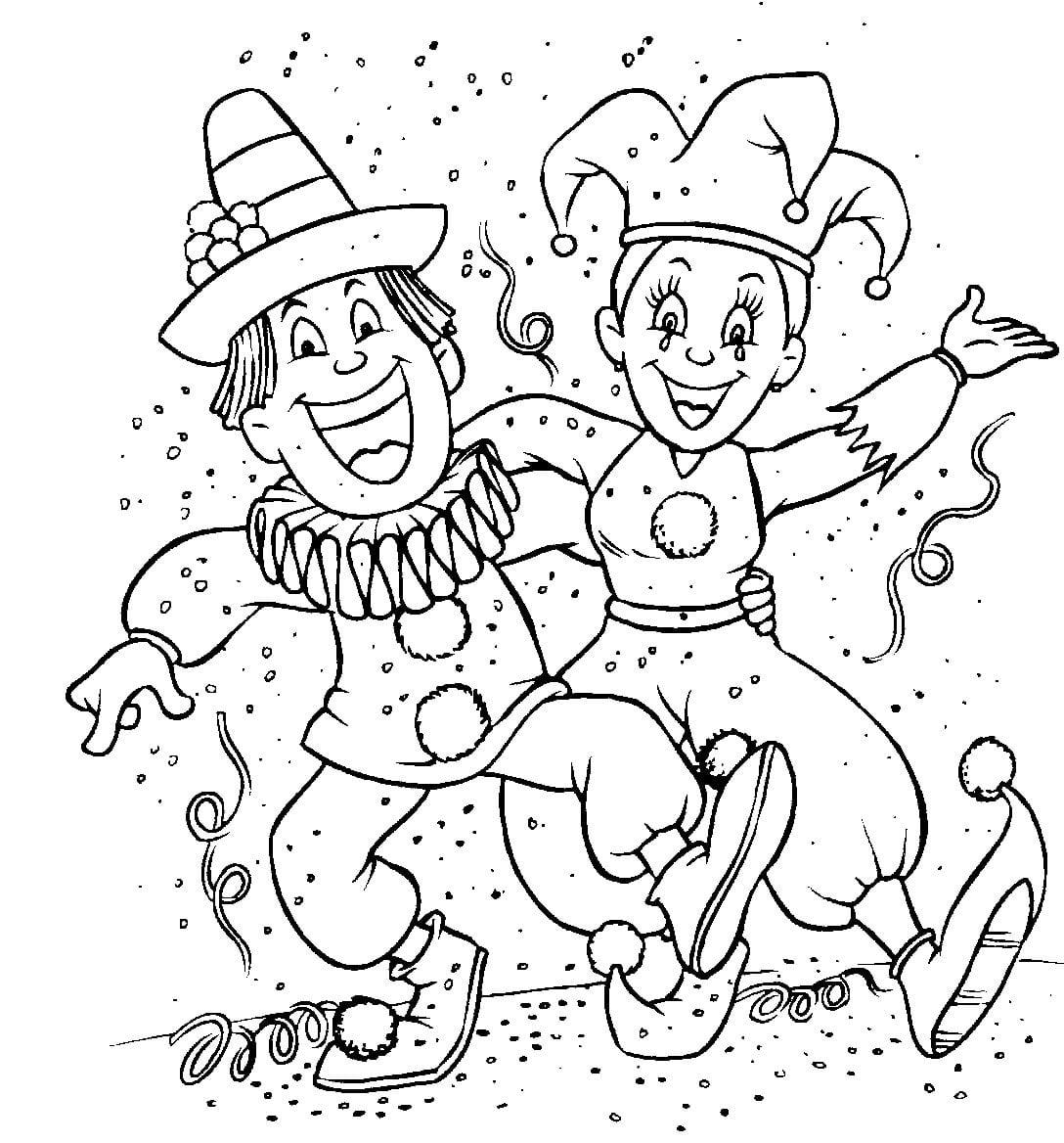 Desenho De Roupas De Carnaval Para Colorir
