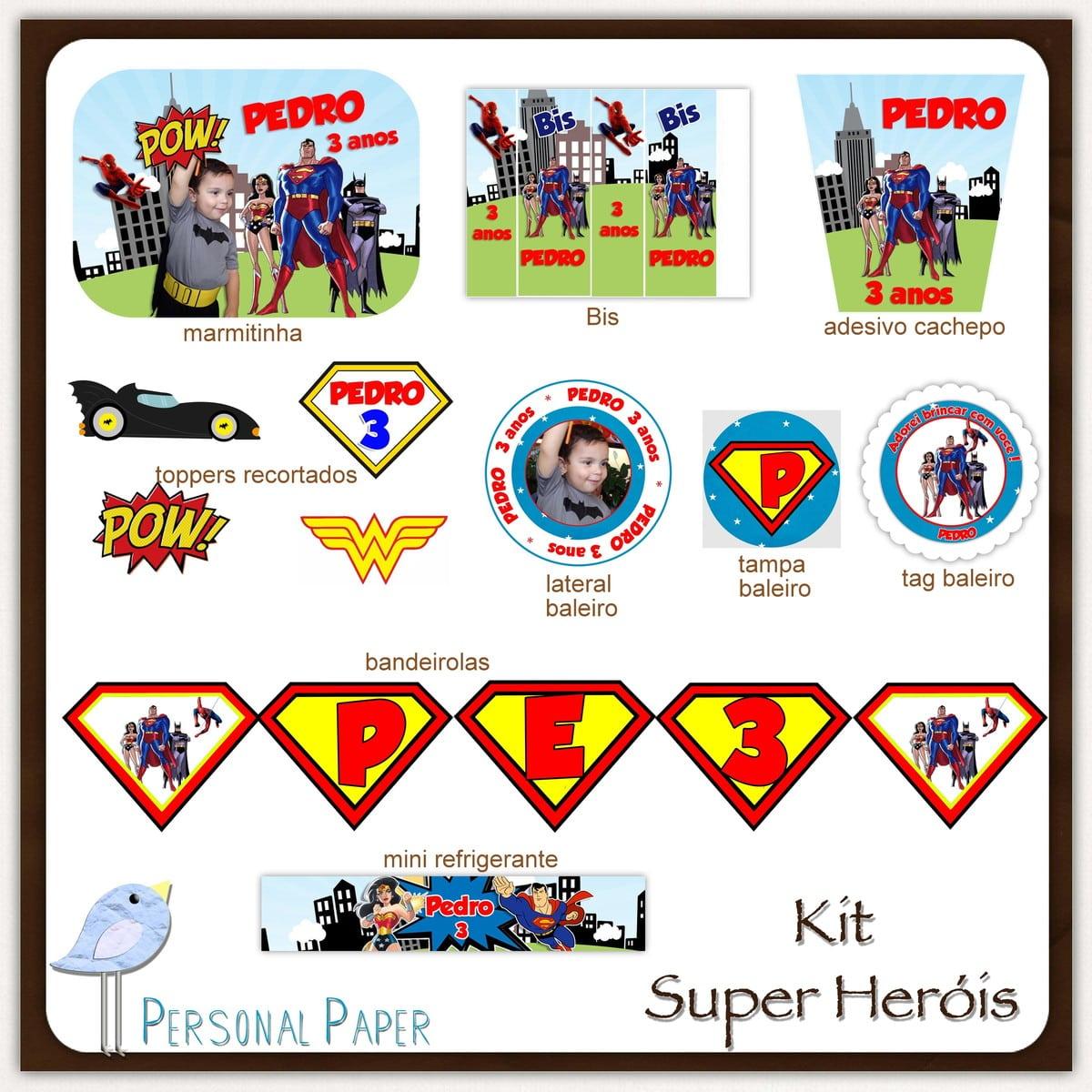 Kit Digital Super Heróis