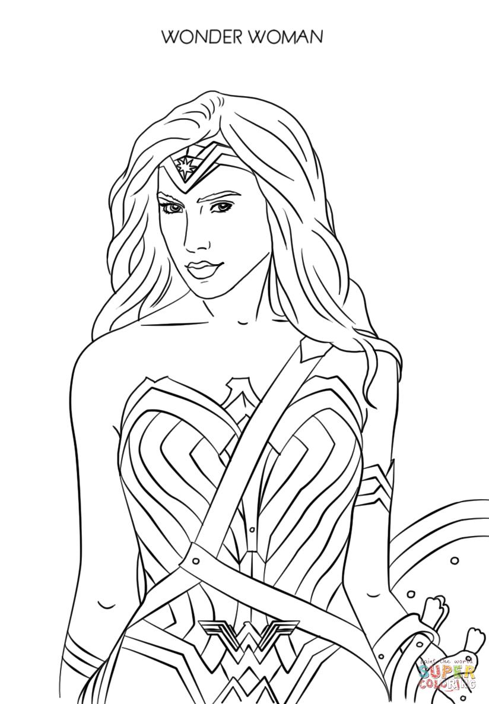 Desenho De Mulher Maravilha 2017 Para Colorir