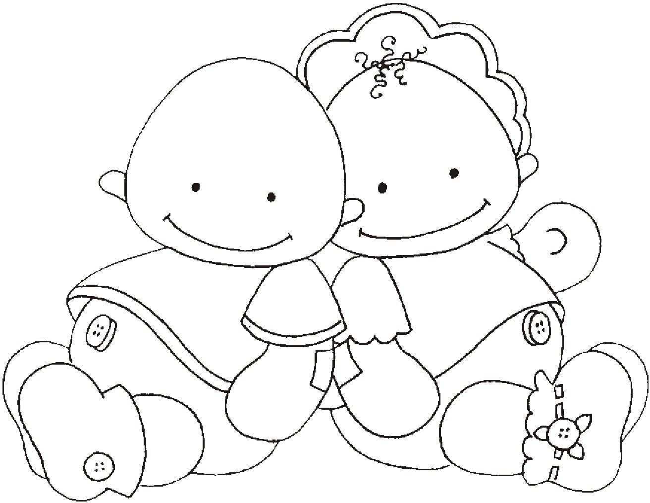 Desenhos De Beb S Para Colorir