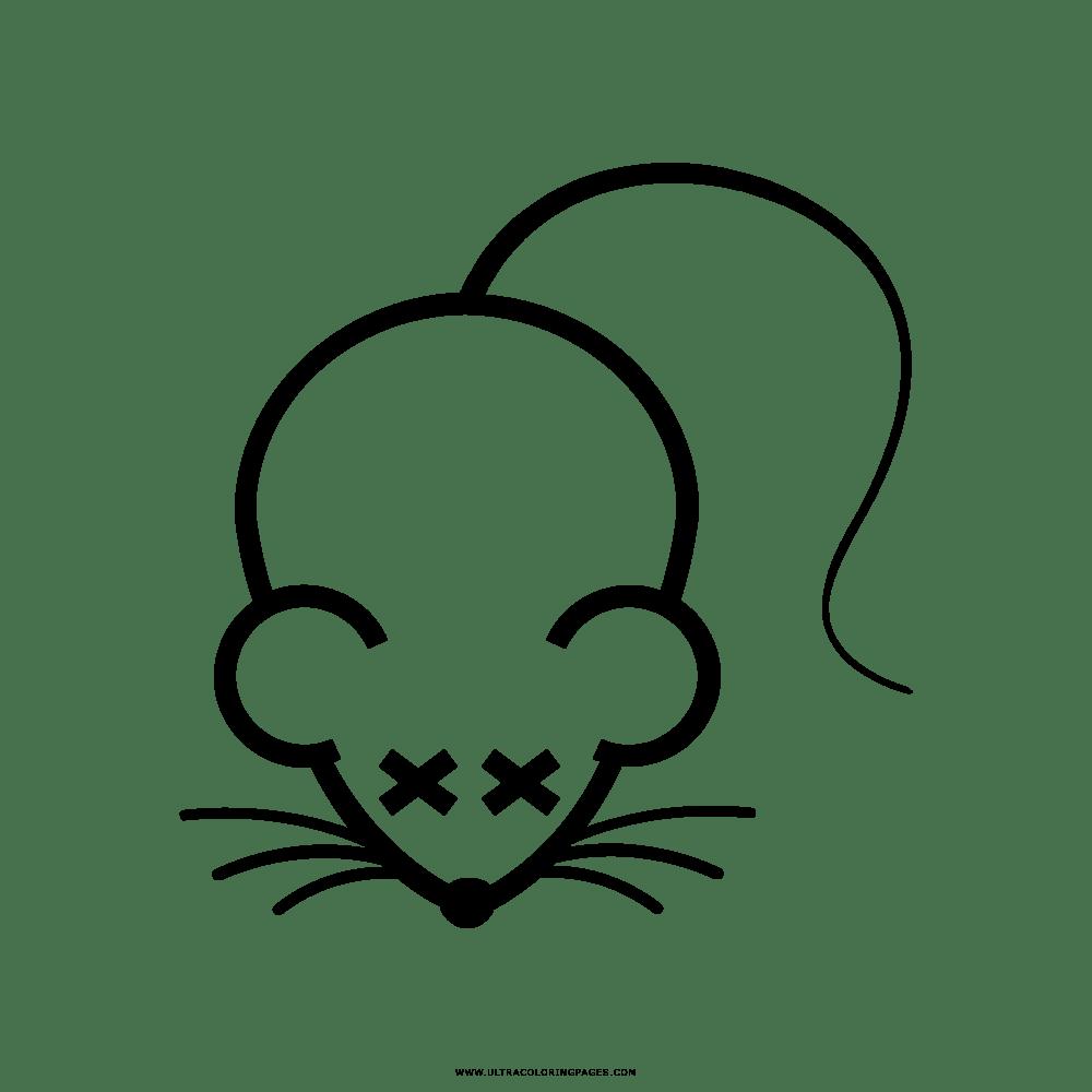 Rato Morto Desenho Para Colorir