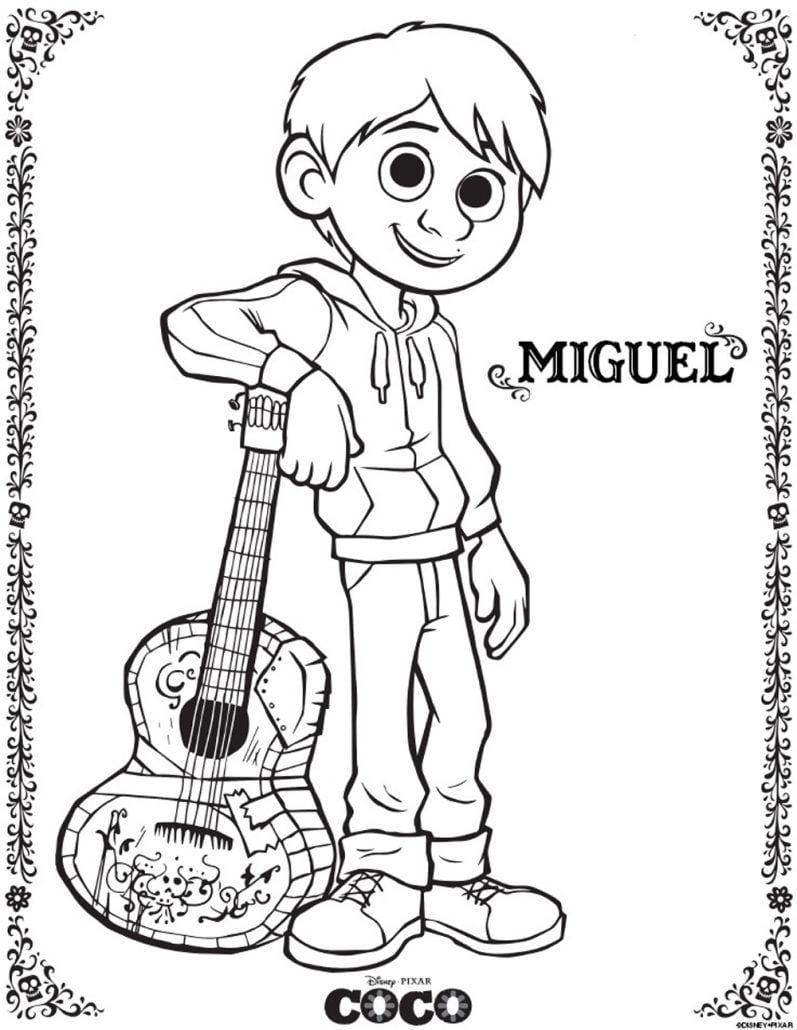 Miguel Coco Imagen Para Colorear Dibujar Pintar Imprimir Recortar