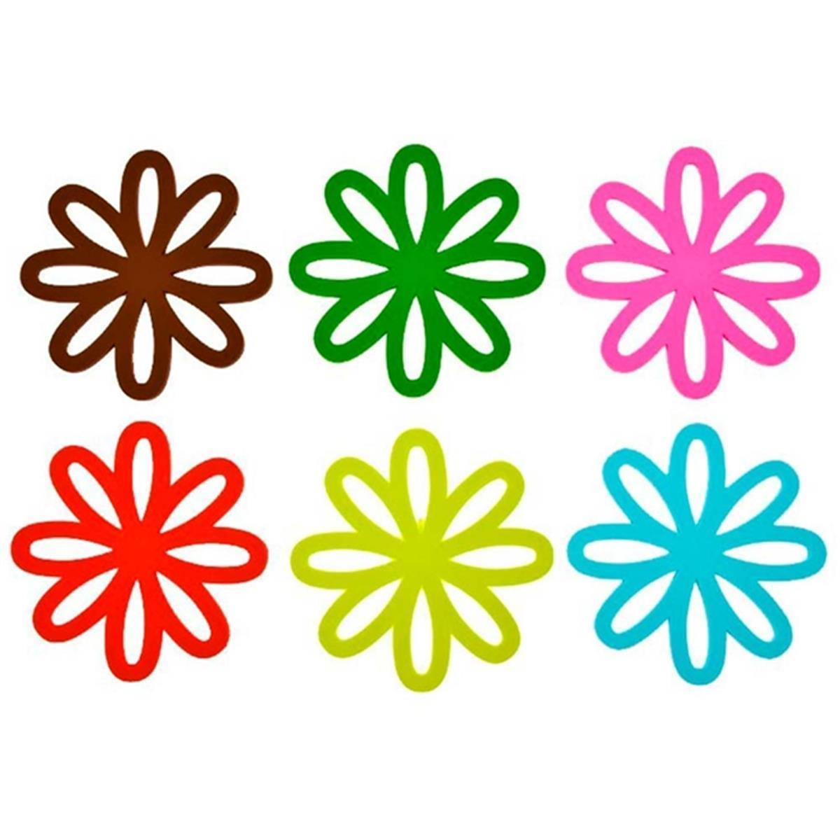 Kit 6 Porta Copos Em Pvc Desenho De Flores Pt0026 Gift4u Na Estrela10
