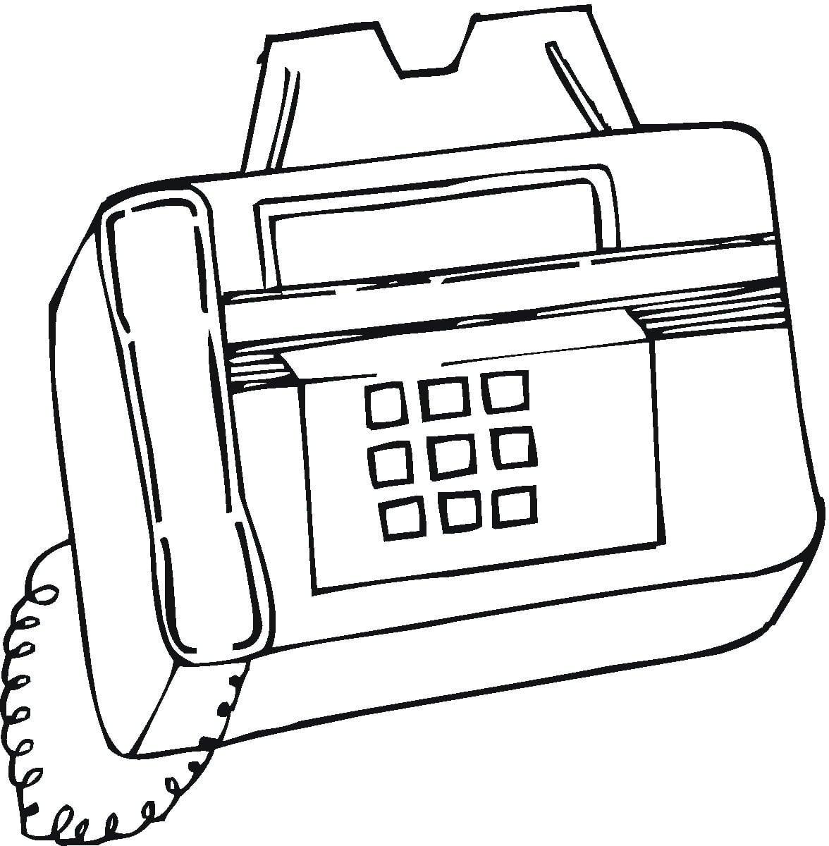 Desenho De Fax Para Colorir