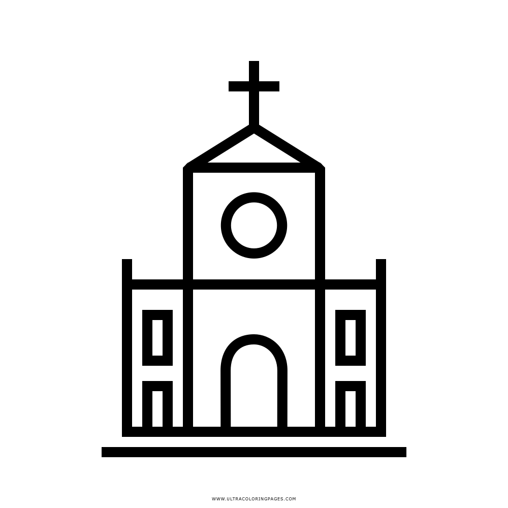 Igreja Desenho Para Colorir