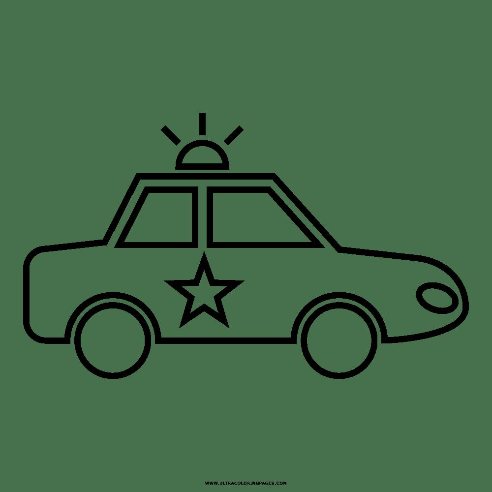 Carro Policial Desenho Para Colorir
