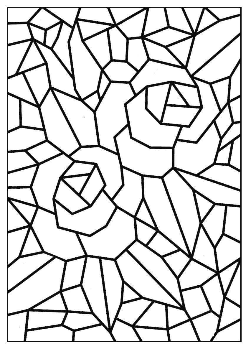 Jornal Ponto Com  Mosaicos Para Colorir